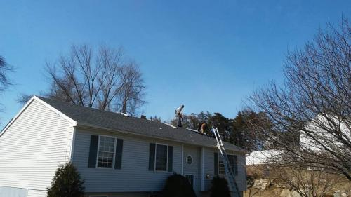 Completed new roof in Wingdale, NY