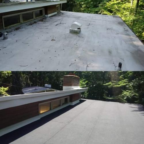 Flat Roof Before & After