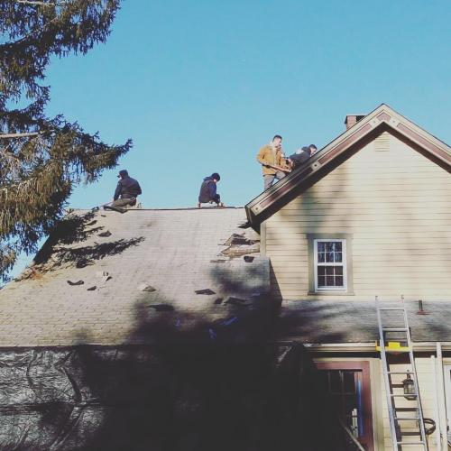 Removing an old roof in Clinton Corners, NY